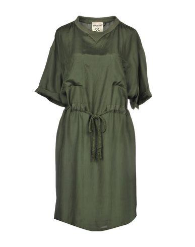 Купить Платье до колена цвет зеленый-милитари