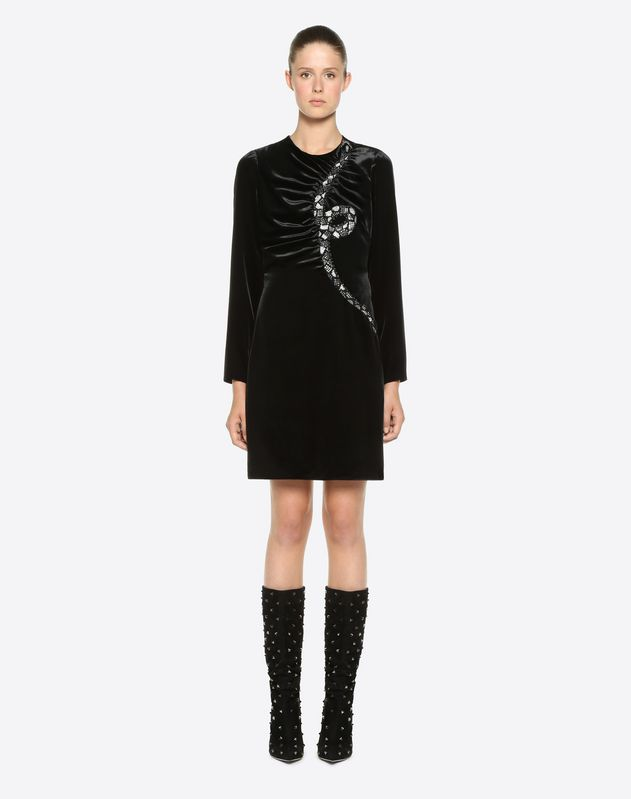 Snake Re-edition embroidered dress