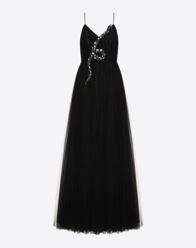 Snake Re-edition embroidered evening dress
