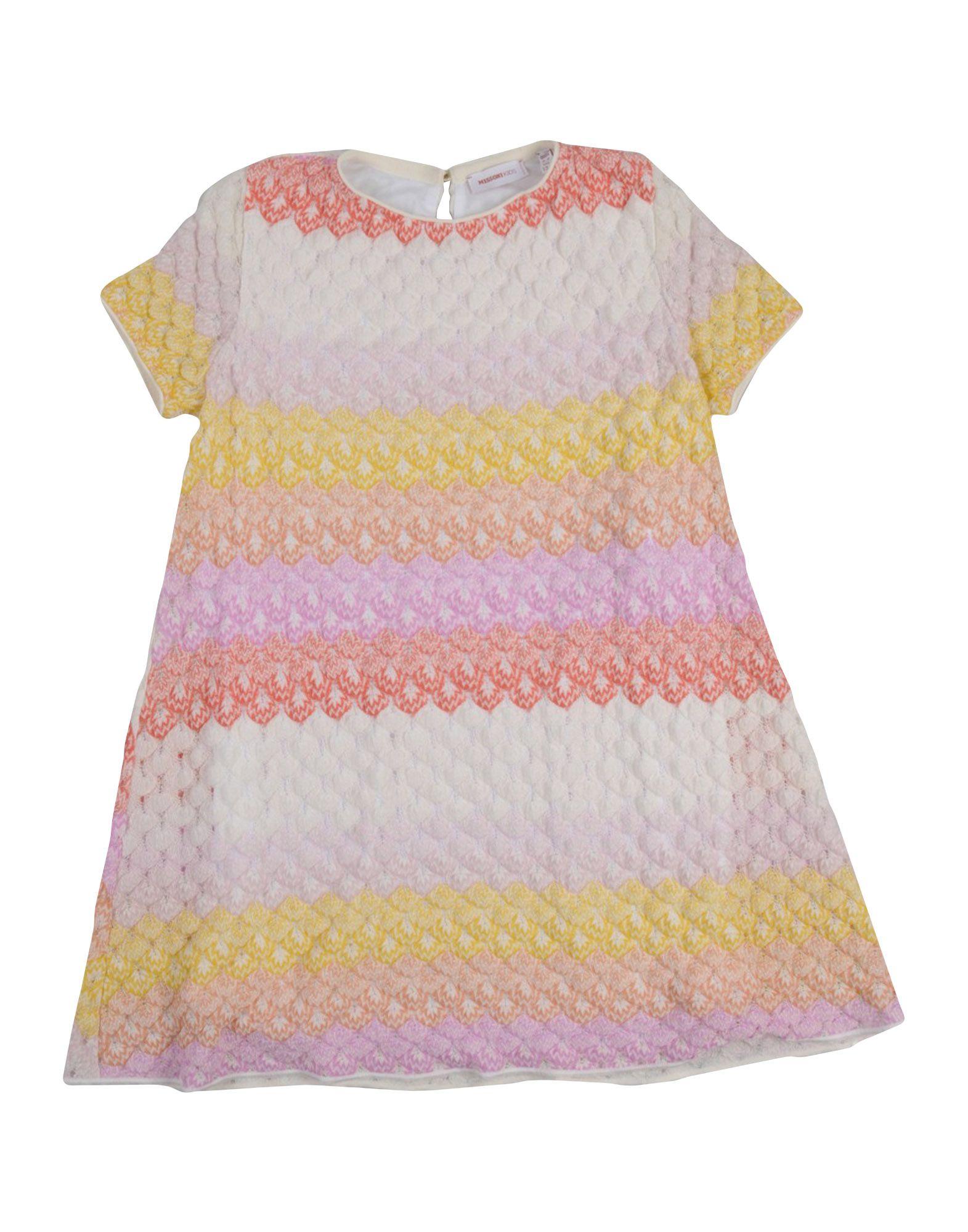 《送料無料》MISSONI KIDS ガールズ 3-8 歳 ワンピース&ドレス イエロー 8 ウール 55% / レーヨン 45%