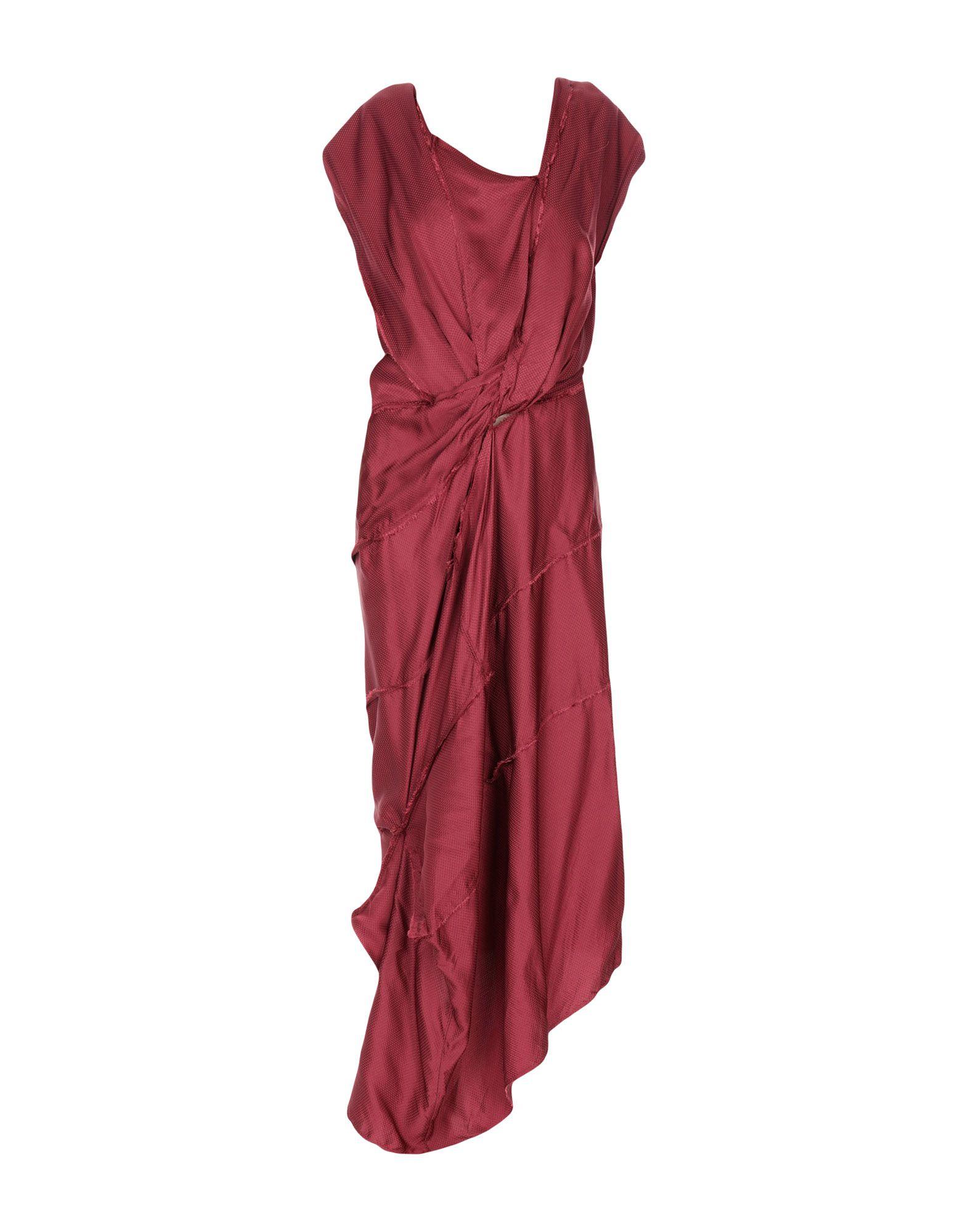 《送料無料》ANDREAS KRONTHALER for VIVIENNE WESTWOOD レディース ロングワンピース&ドレス ボルドー 2 シルク 100%