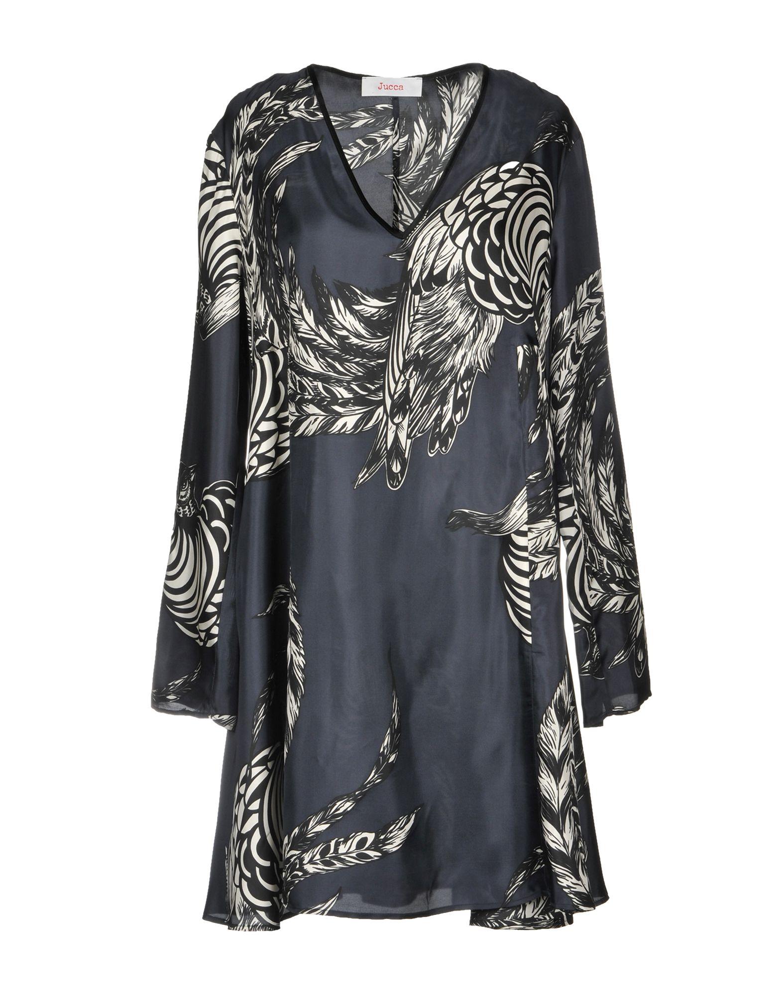 JUCCA Short Dress in Dark Blue