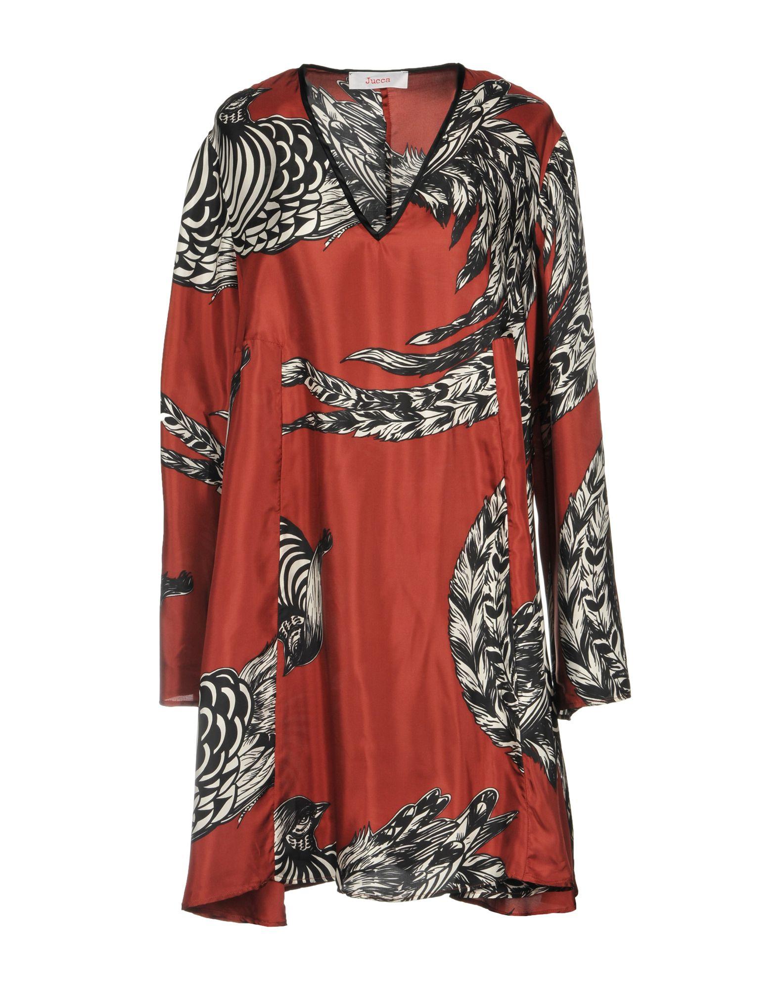 JUCCA Short Dress in Brick Red