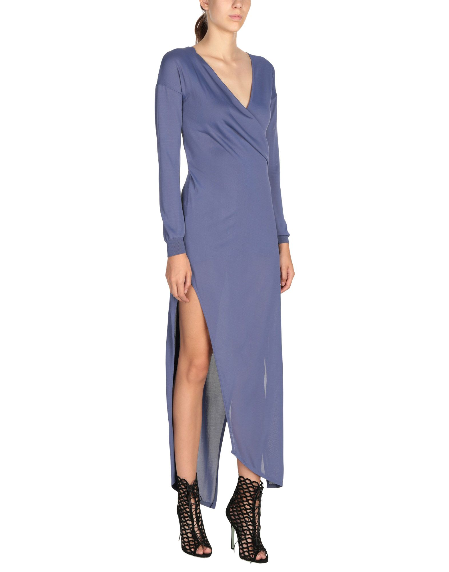 HALSTON Long Dress in Mauve