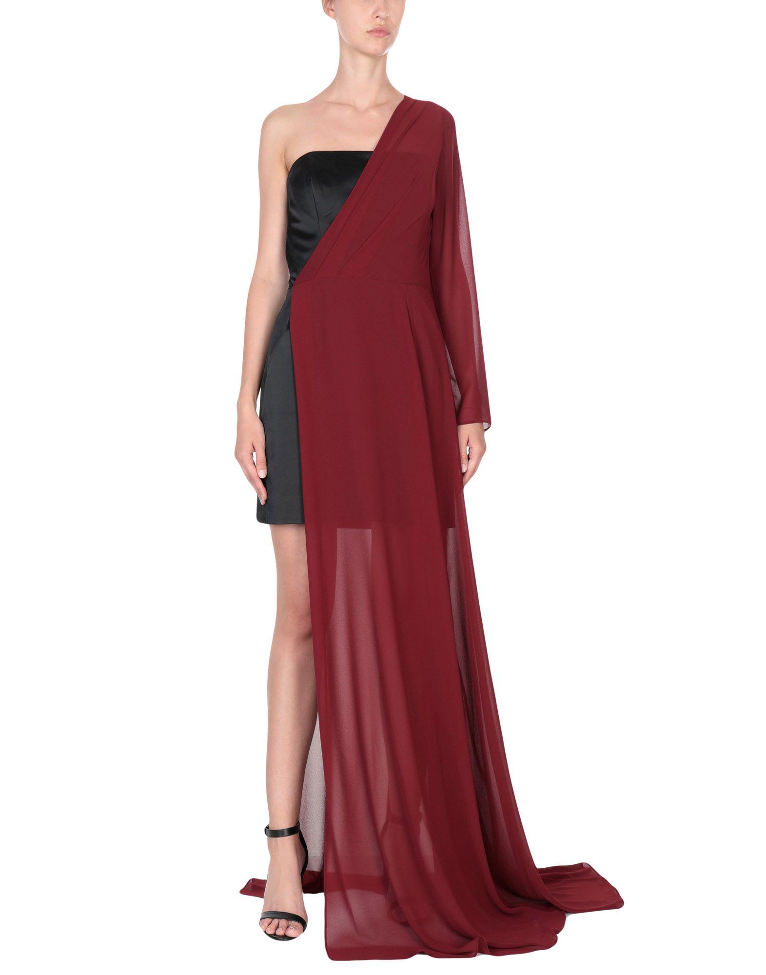 STEFANO DE LELLIS Long Dresses in Maroon
