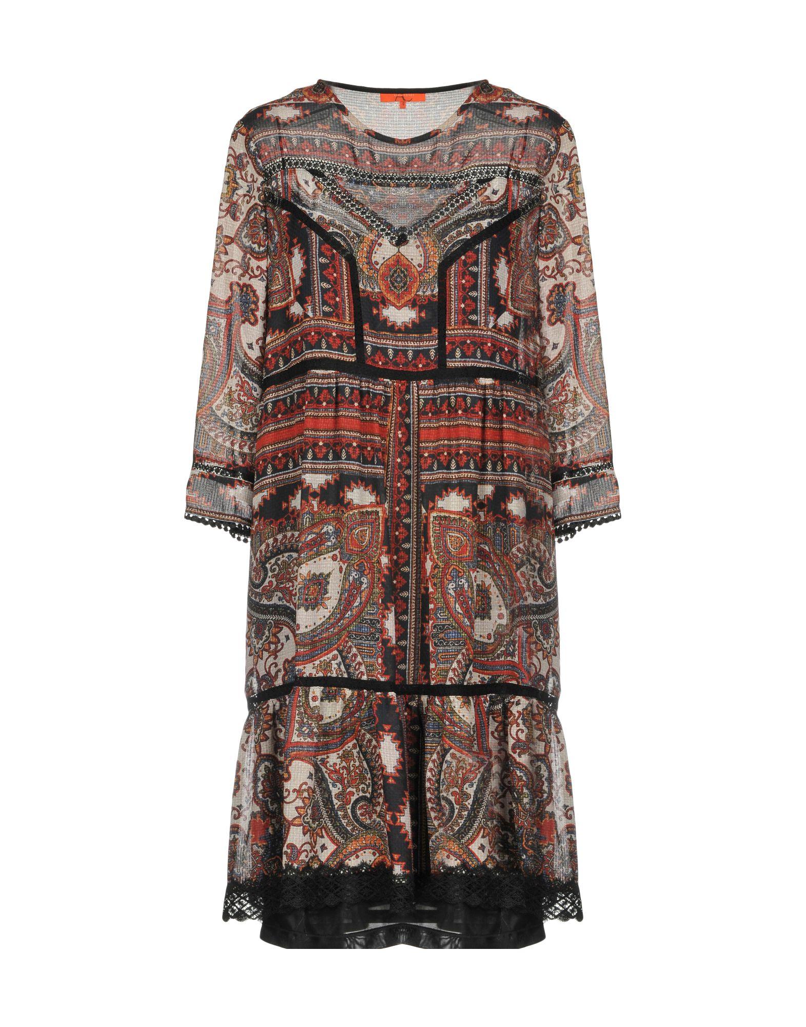 ALBA CONDE Damen Kurzes Kleid Farbe Ziegelrot Größe 6