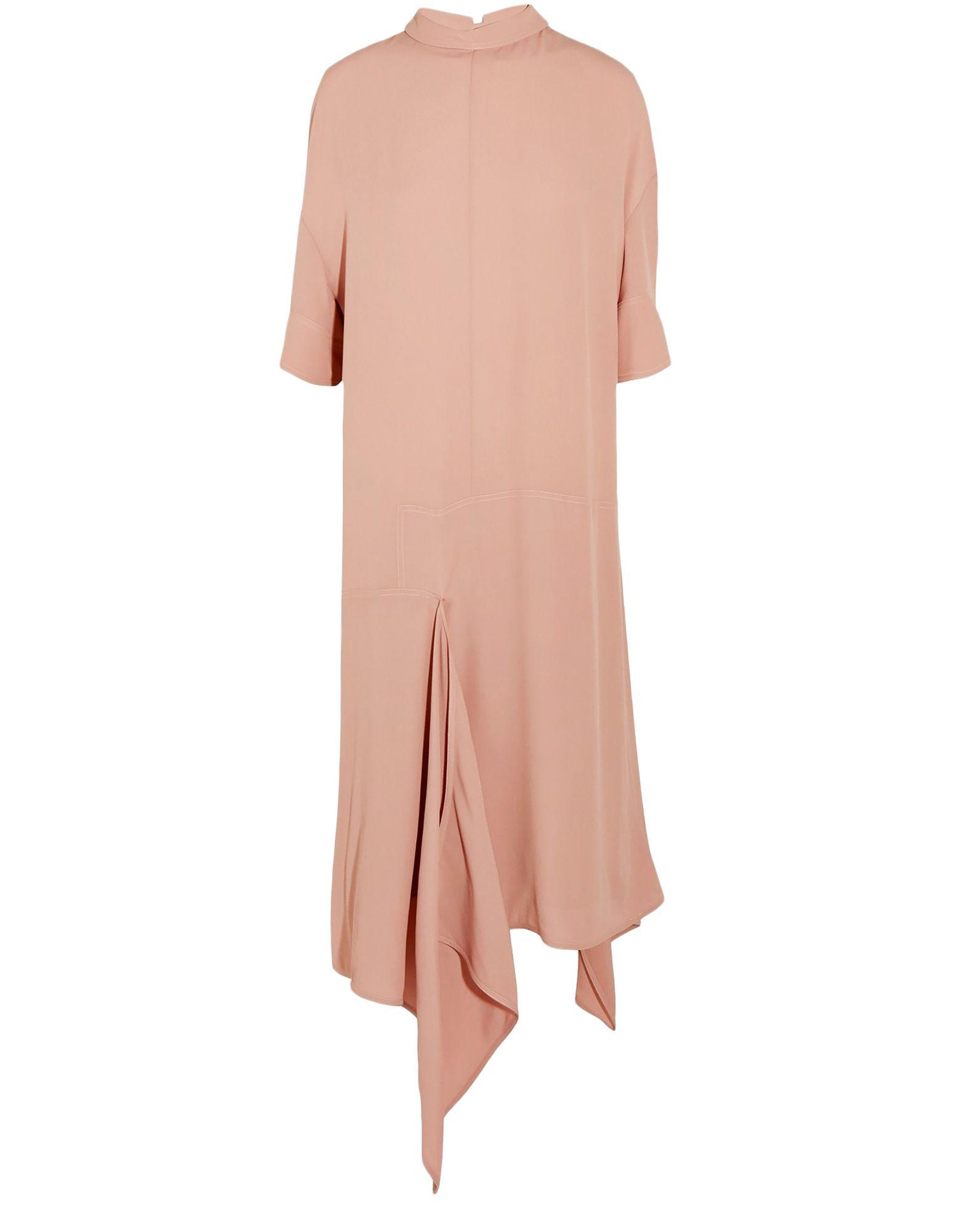 Платье до колена  Бежевый цвета