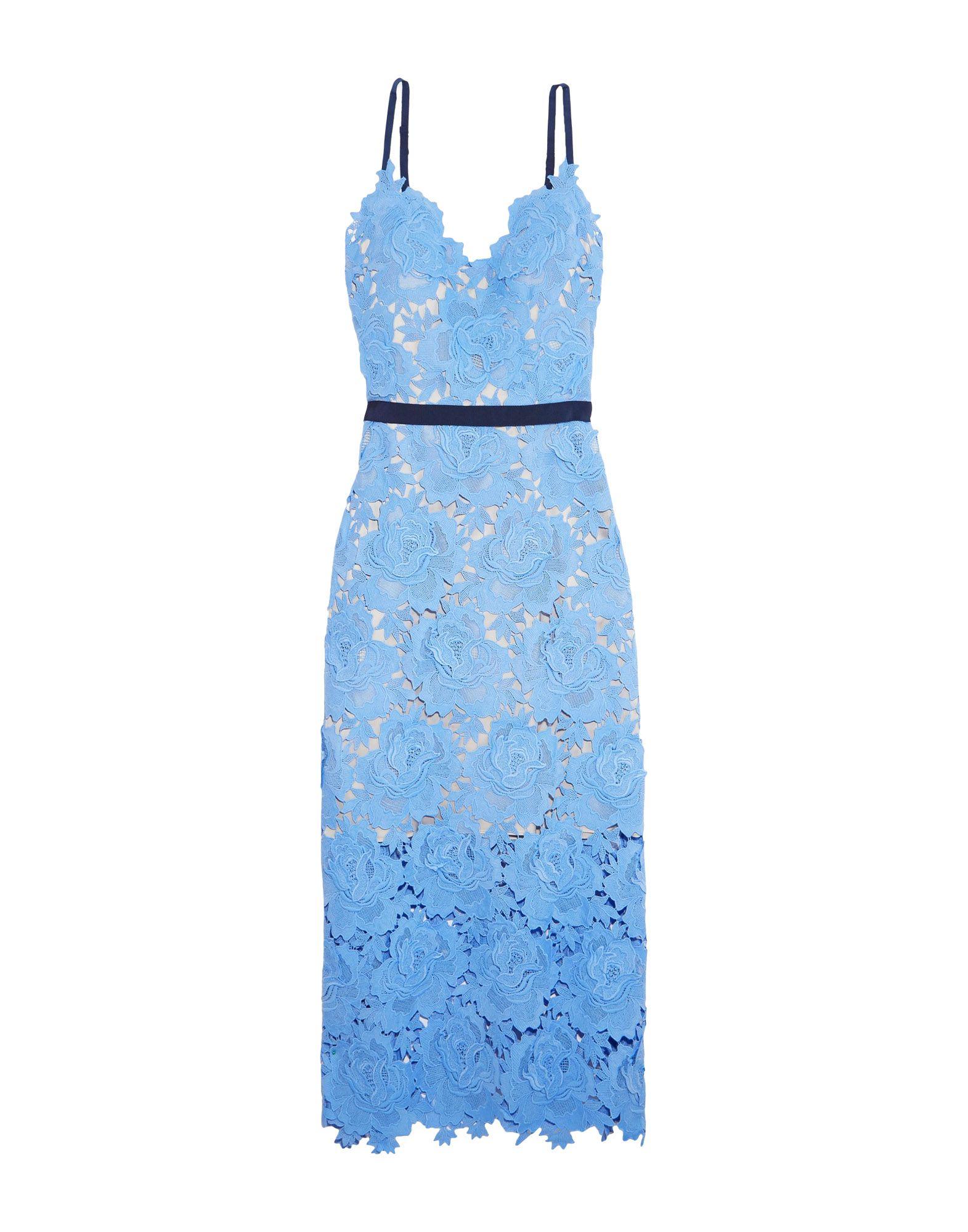 CATHERINE DEANE Woman Frida Guipure Lace Midi Dress Light Blue