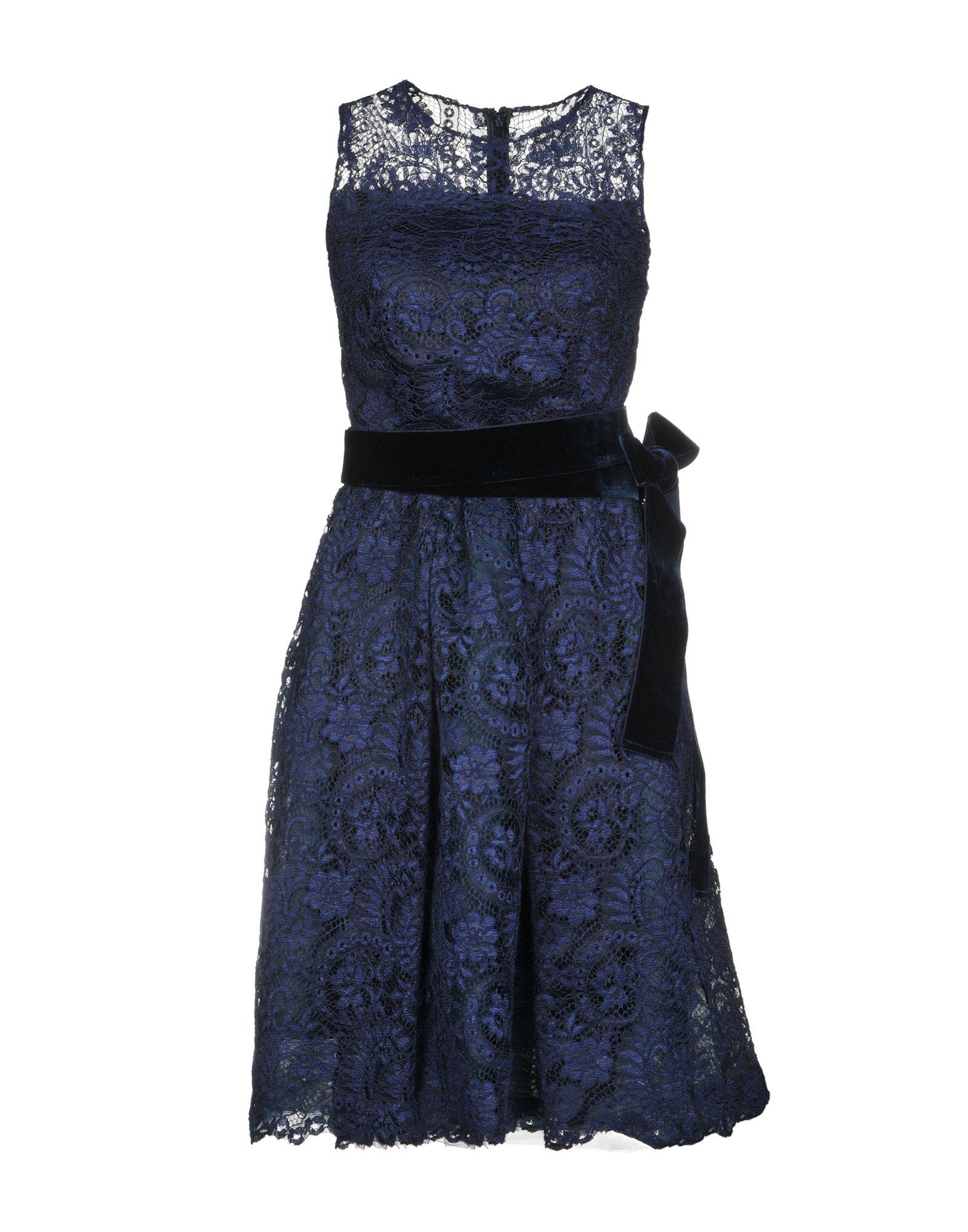 《送料無料》ALESSANDRO LEGORA レディース ミニワンピース&ドレス ブルー 42 ポリエステル 100%