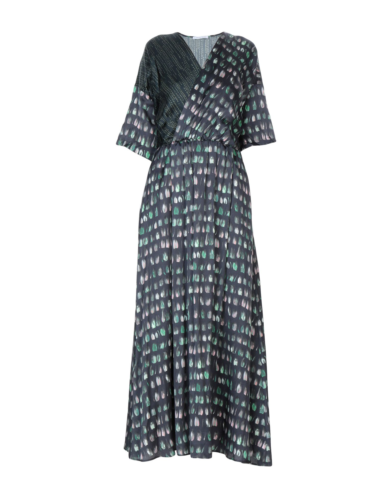 CARACTÈRE Длинное платье hitorat платье элегантной моды юбка 2015 осень зима новый стиль длинное платье рукав