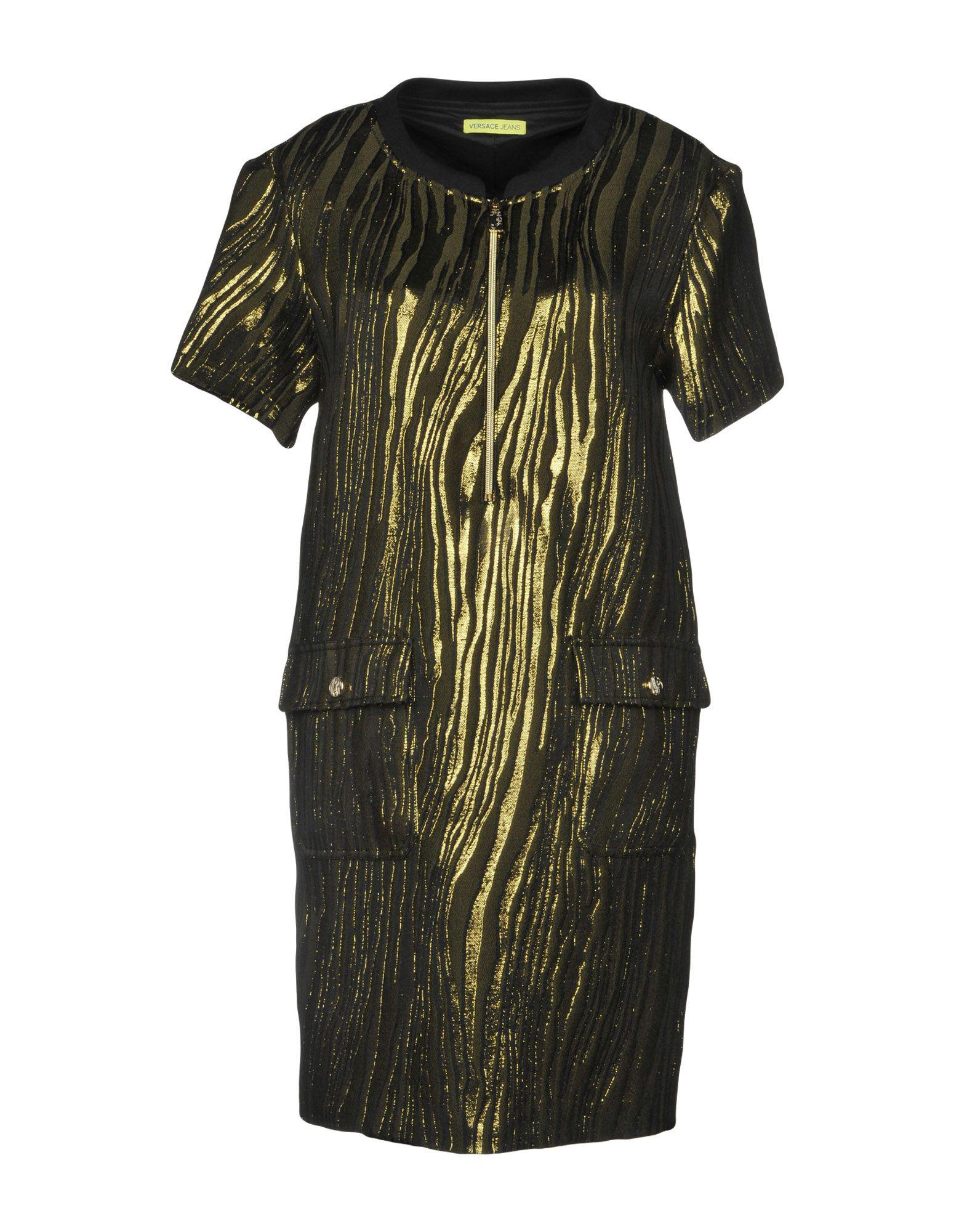 VERSACE JEANS Короткое платье футболка versace разноцветный