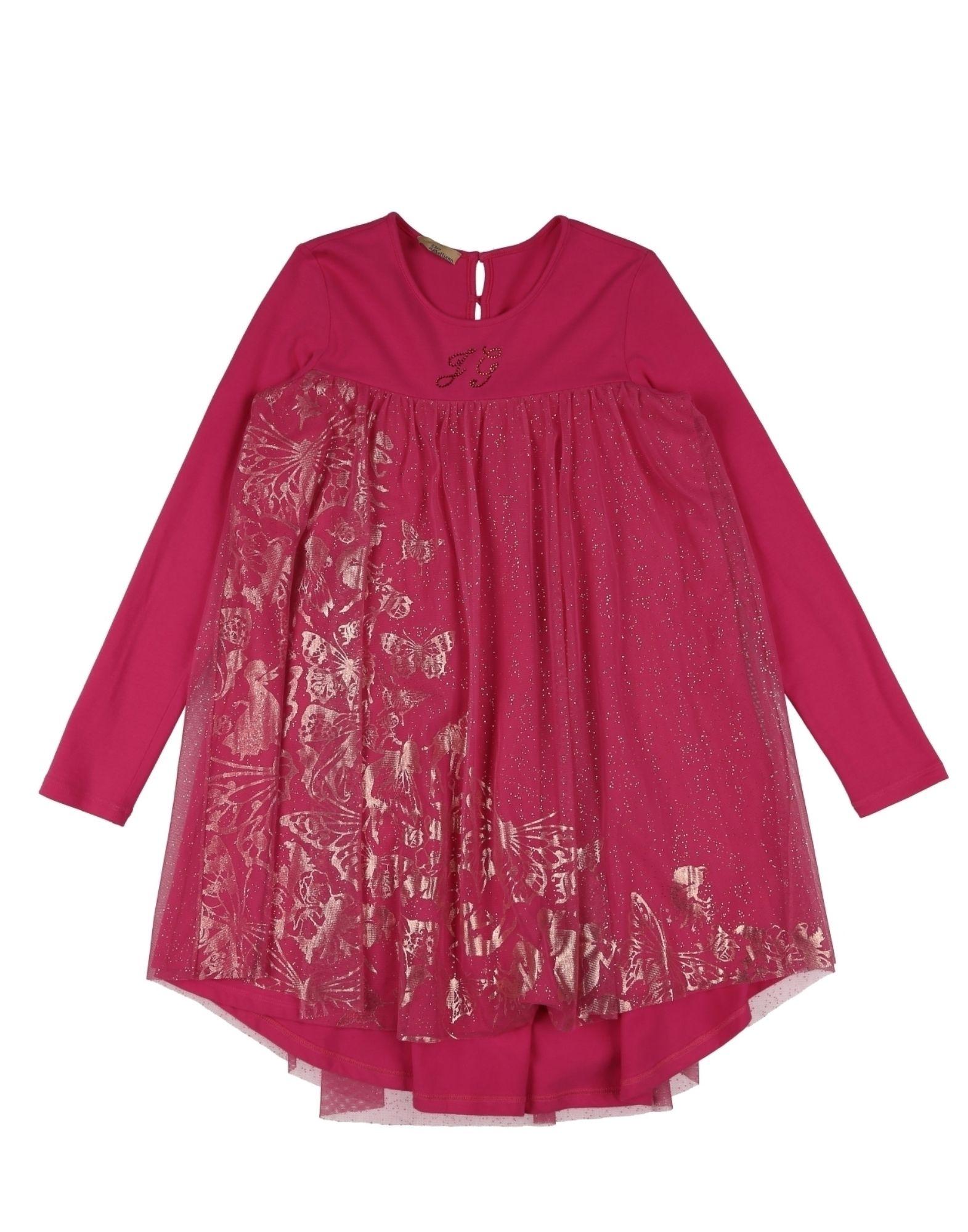 《送料無料》JOHN GALLIANO KIDS ガールズ 3-8 歳 ワンピース&ドレス フューシャ 8 コットン 90% / ポリウレタン 10%