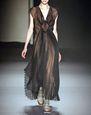 LANVIN Dress Woman PLEATED BLACK ORGANZA DRESS f