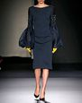 LANVIN Dress Woman EMBROIDERED SILK NEOPRENE DRESS f