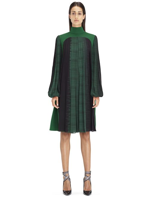 MID-LENGTH MOSS GREEN DRESS - Lanvin