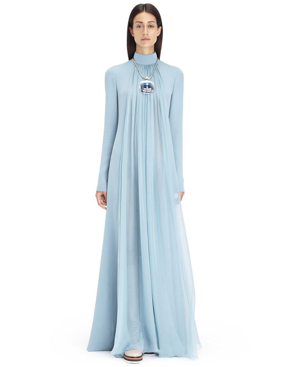 ロング アクア シルクジョーゼット ドレス  - Lanvin