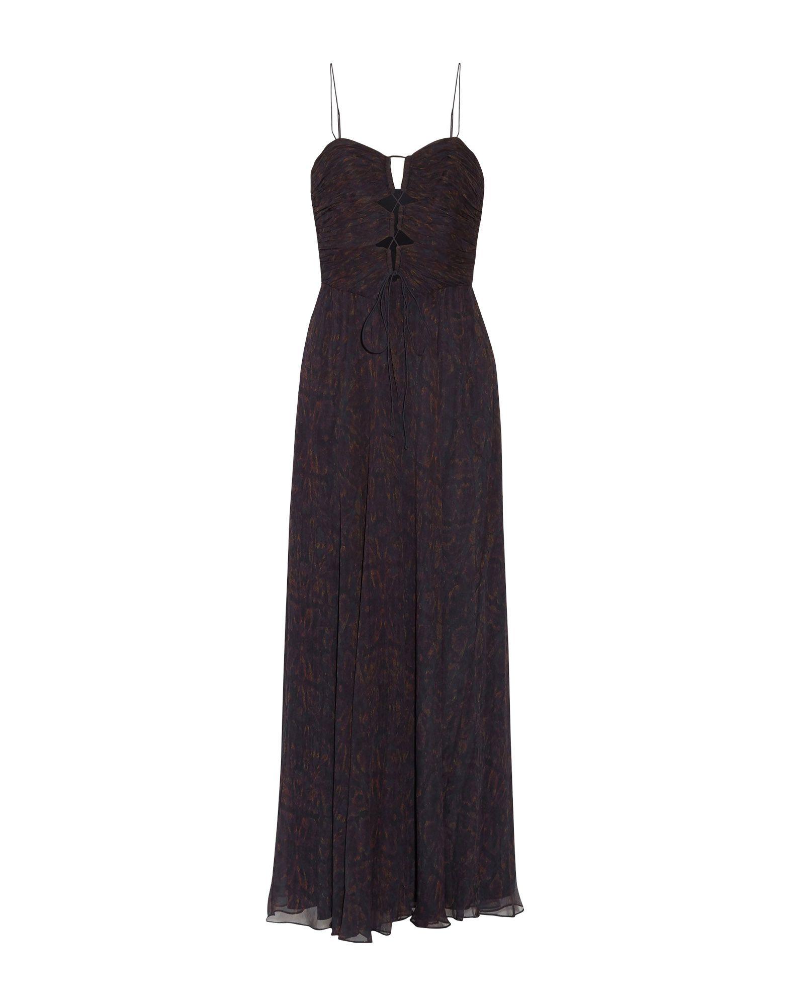 HAUTE HIPPIE Damen Langes Kleid Farbe Dunkelblau Größe 6