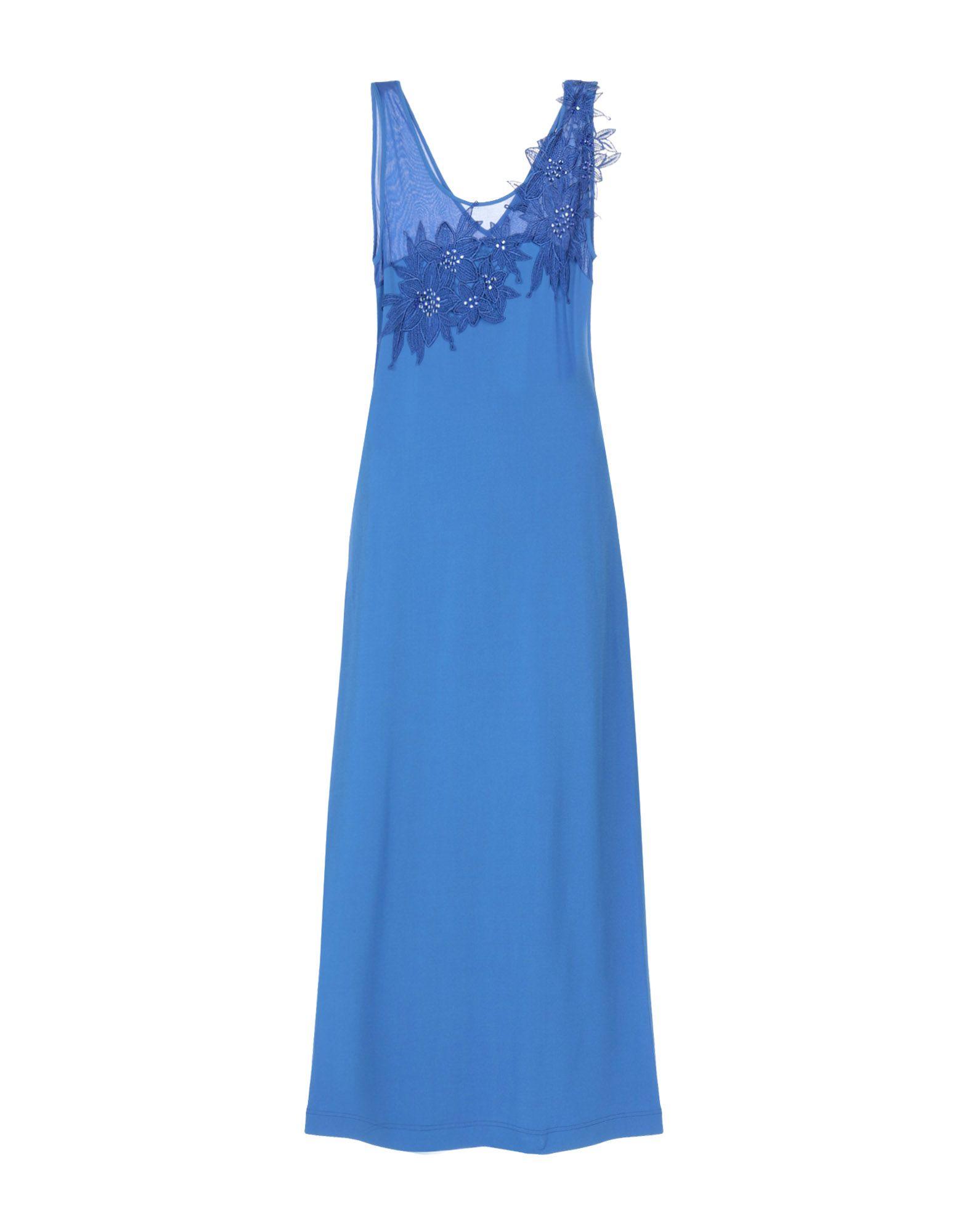 《セール開催中》MARTA PALMIERI レディース ロングワンピース&ドレス ブルー 44 80% レーヨン 15% ナイロン 5% ポリウレタン