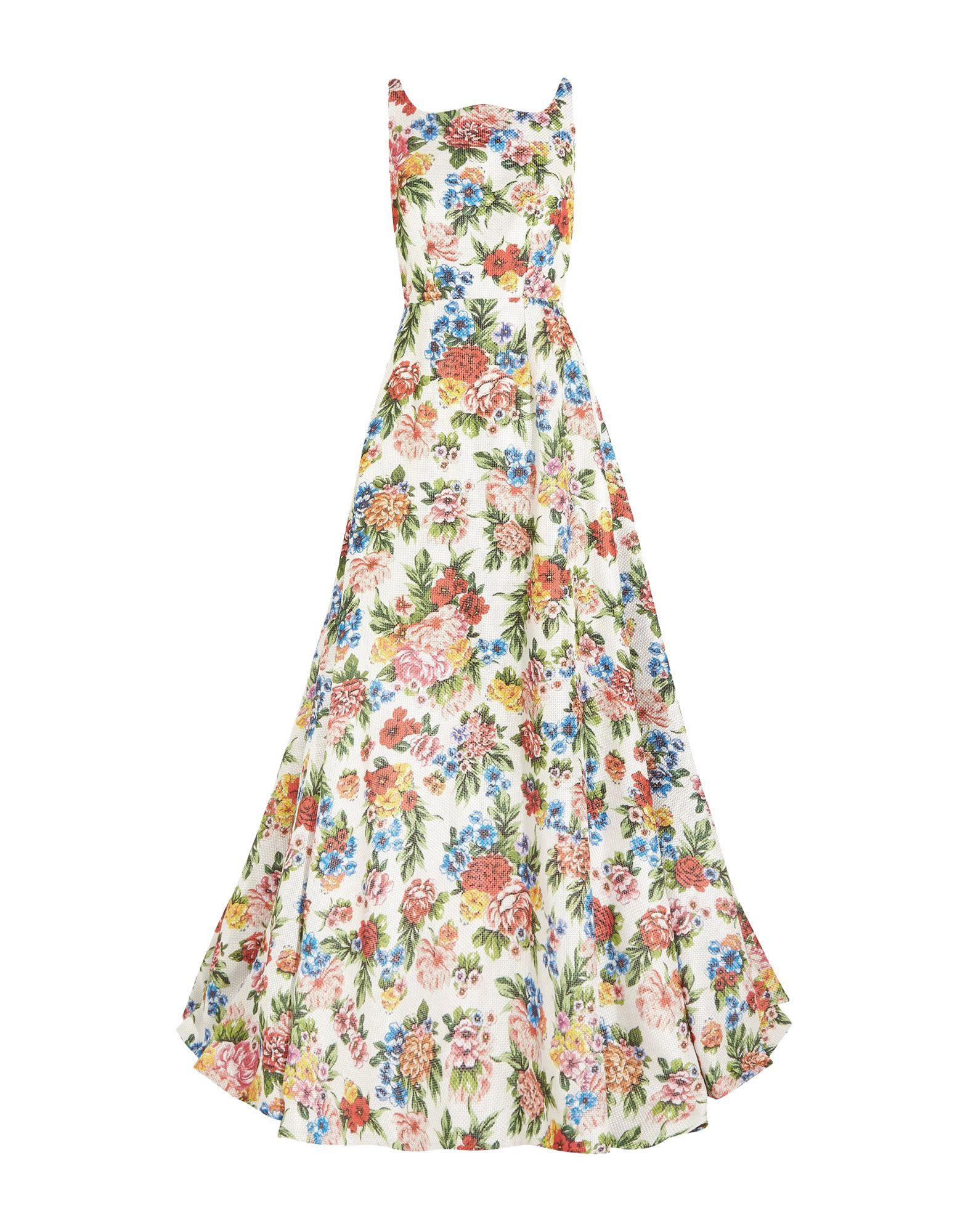 《送料無料》EMILIA WICKSTEAD レディース ロングワンピース&ドレス ホワイト 16 ポリエステル 100%