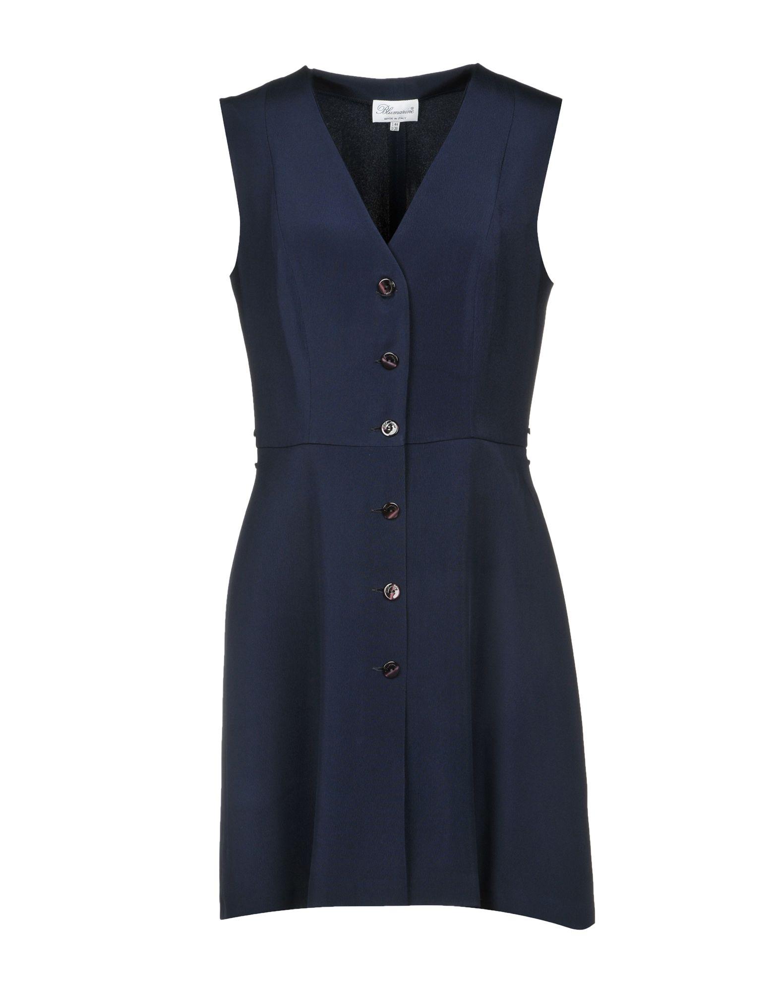 BLUMARINE Короткое платье платье рубашка fox yulia sway платье рубашка fox