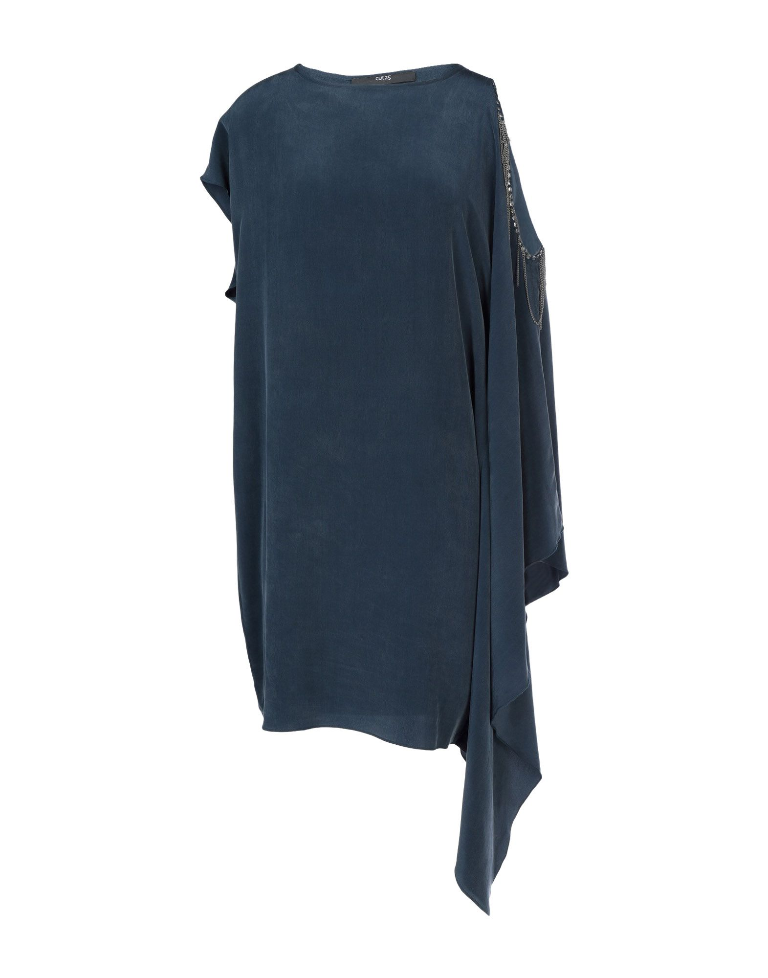 CUT25 by YIGAL AZROUËL Короткое платье frayed hem plus size hooded denim jacket