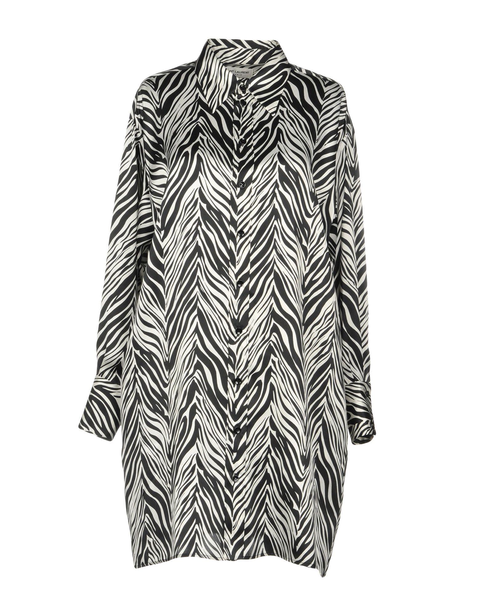SAINT LAURENT Короткое платье цена 2017