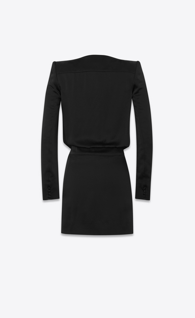 "SAINT LAURENT ドレス レディース Deep V neck dress in ""crêpe envers satin"" b_V4"