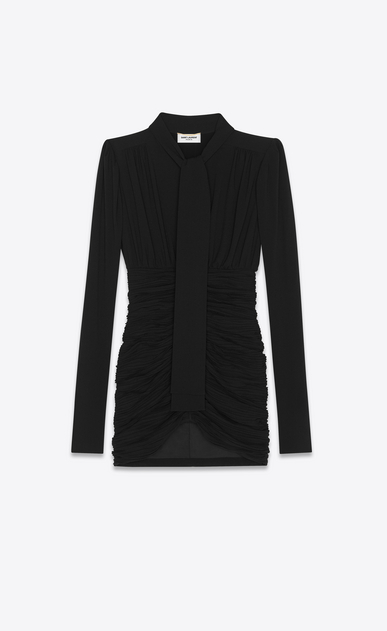 SAINT LAURENT Dresses Woman high waisted Lavallière dress a_V4