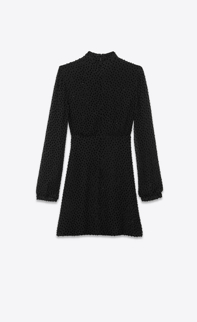 SAINT LAURENT Dresses Woman Plumetis velvet Lavallière dress b_V4