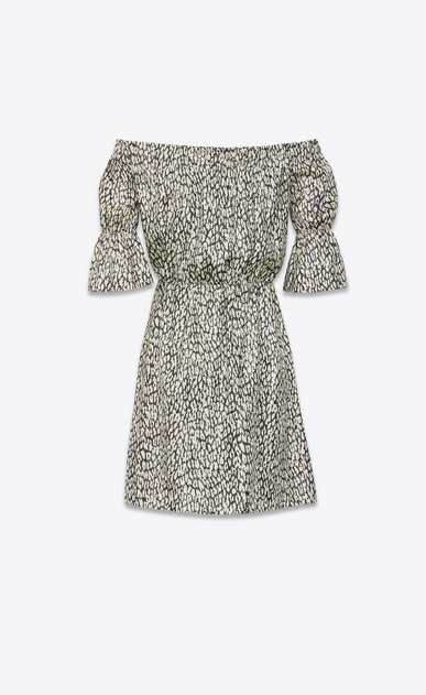 SAINT LAURENT ドレス レディース lamé leopard silk dress b_V4
