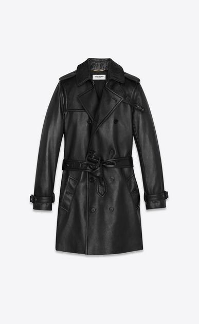 SAINT LAURENT レザージャケット レディース lambskin trench coat b_V4