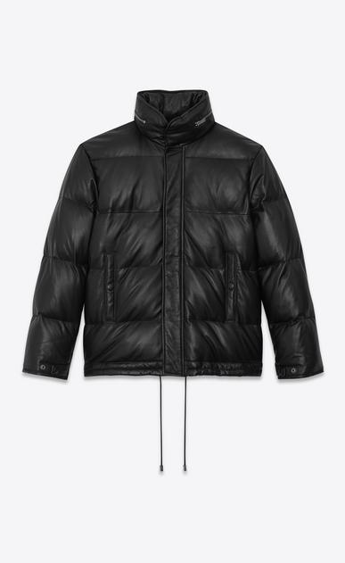 SAINT LAURENT レザージャケット レディース lambskin Down jacket a_V4