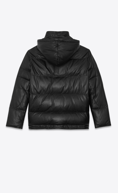 SAINT LAURENT Leather jacket Woman lambskin Down jacket b_V4