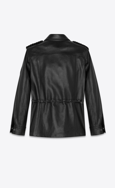 SAINT LAURENT Leather jacket Woman lambskin military parka b_V4