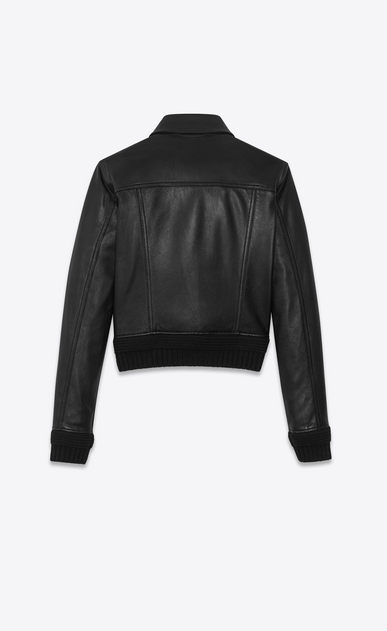SAINT LAURENT Leather jacket Woman Lambskin denim jacket b_V4