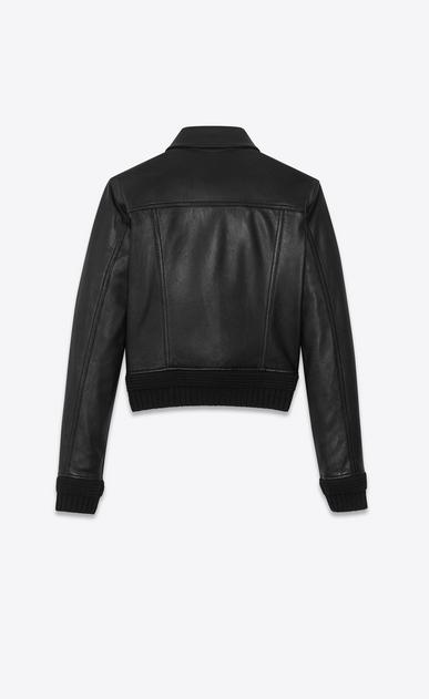 SAINT LAURENT レザージャケット レディース Lambskin denim jacket b_V4