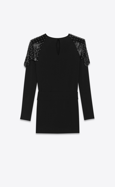 SAINT LAURENT Dresses Woman studded chainmail dress in sablé b_V4