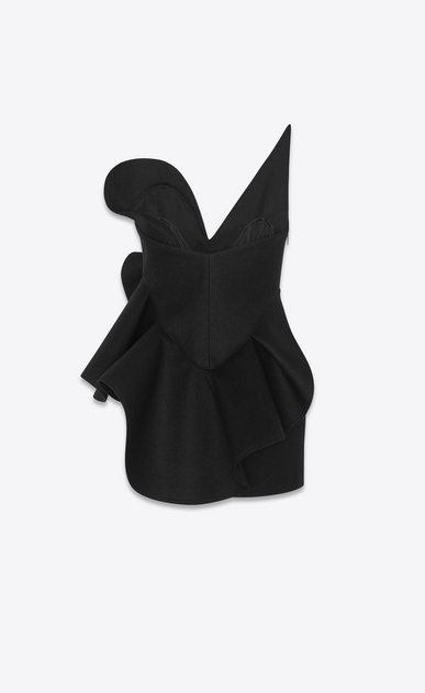 SAINT LAURENT Dresses Woman Asymmetrical bustier dress in drap de laine b_V4