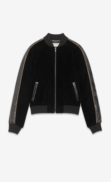 SAINT LAURENT Casual Jackets Woman velvet Teddy and ayers details a_V4