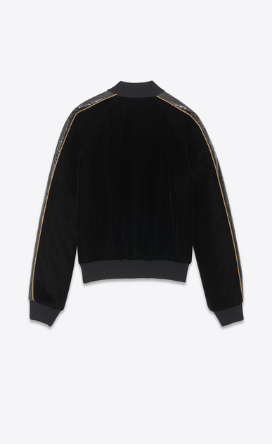 SAINT LAURENT Casual Jackets Woman velvet Teddy and ayers details b_V4