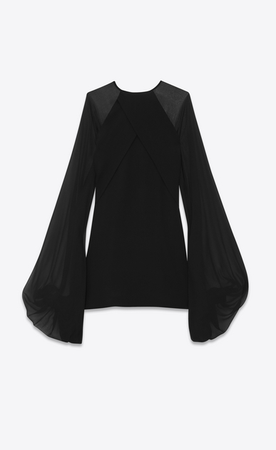 SAINT LAURENT Dresses Woman oversized sleeve dress in silk georgette b_V4