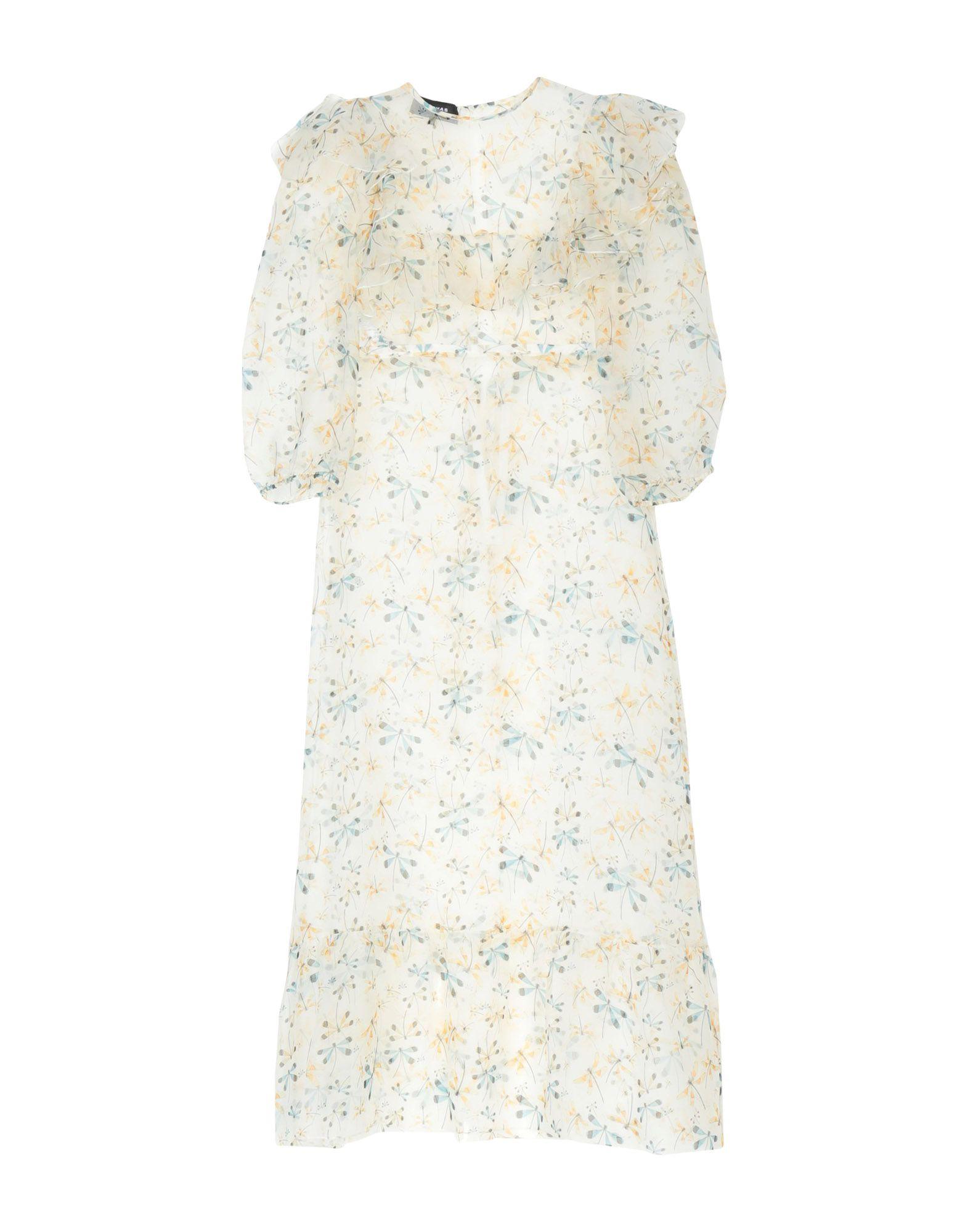 《送料無料》ROCHAS レディース ロングワンピース&ドレス アイボリー 40 100% シルク