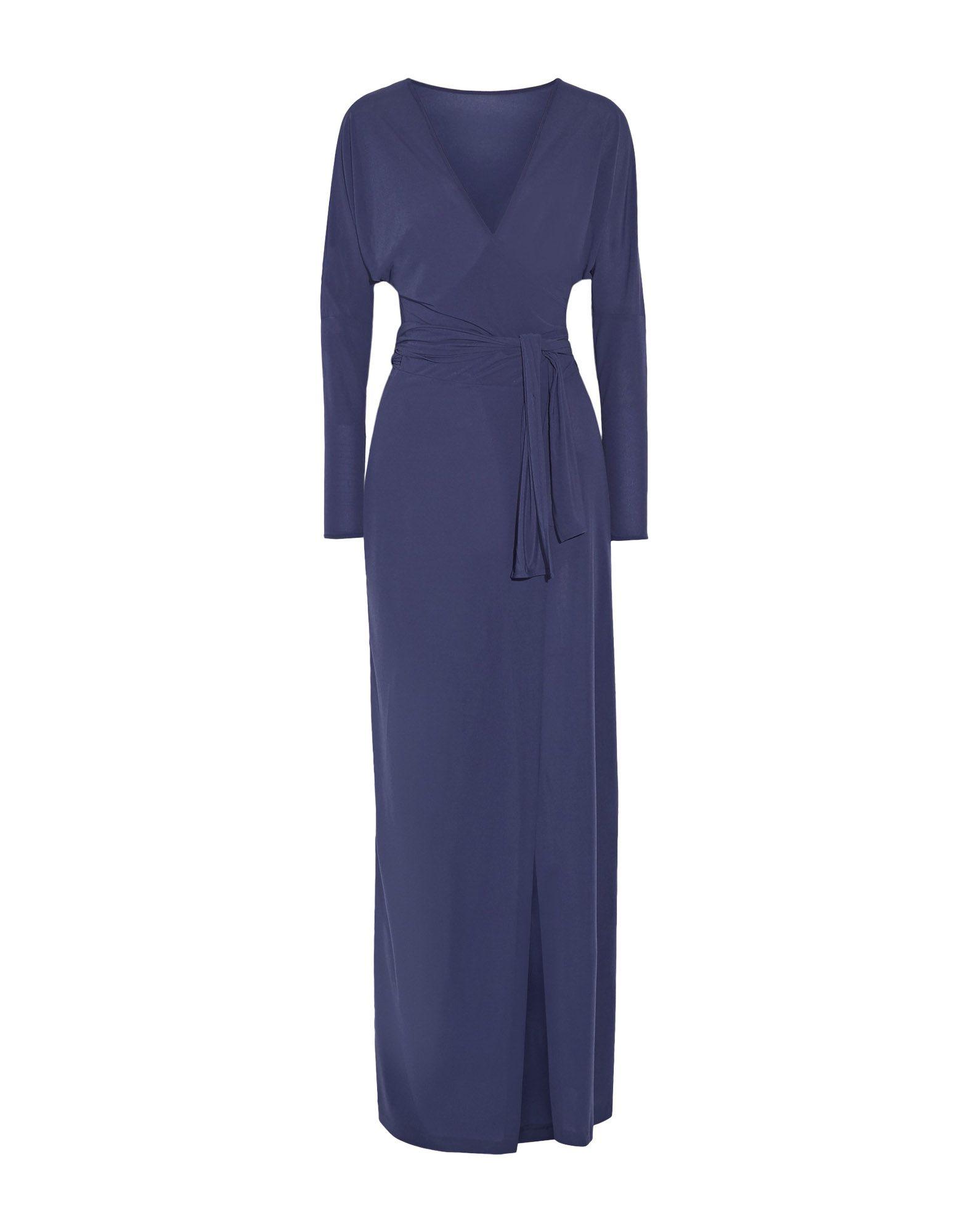 《送料無料》NORMA KAMALI レディース ロングワンピース&ドレス ブルー XS ポリエステル 100%