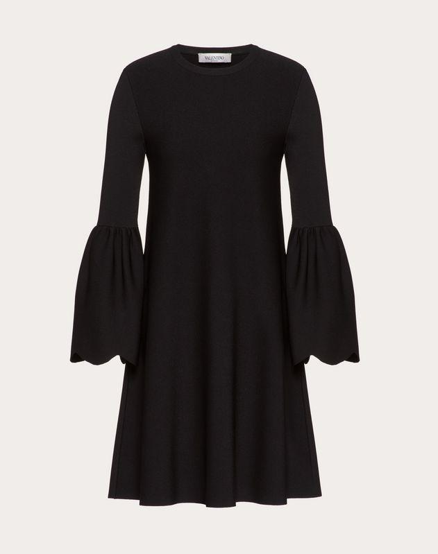 니트 스캘럽 드레스