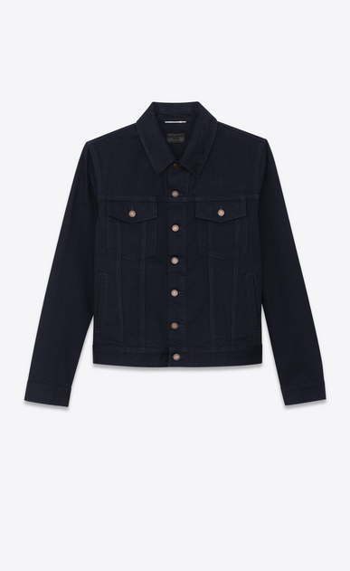 veste en denim worn black