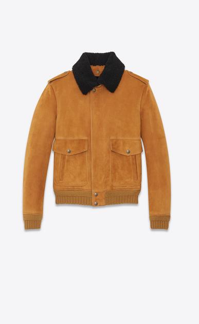 SAINT LAURENT Leather jacket Man Shearling Aviator Jacket a_V4