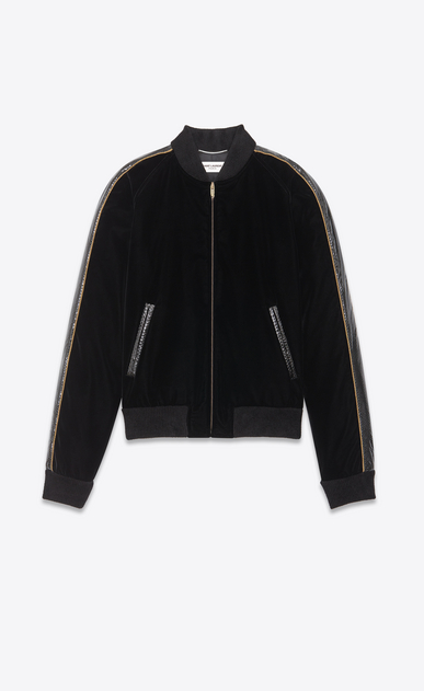 SAINT LAURENT Casual Jackets Man velvet teddy with ayers details a_V4