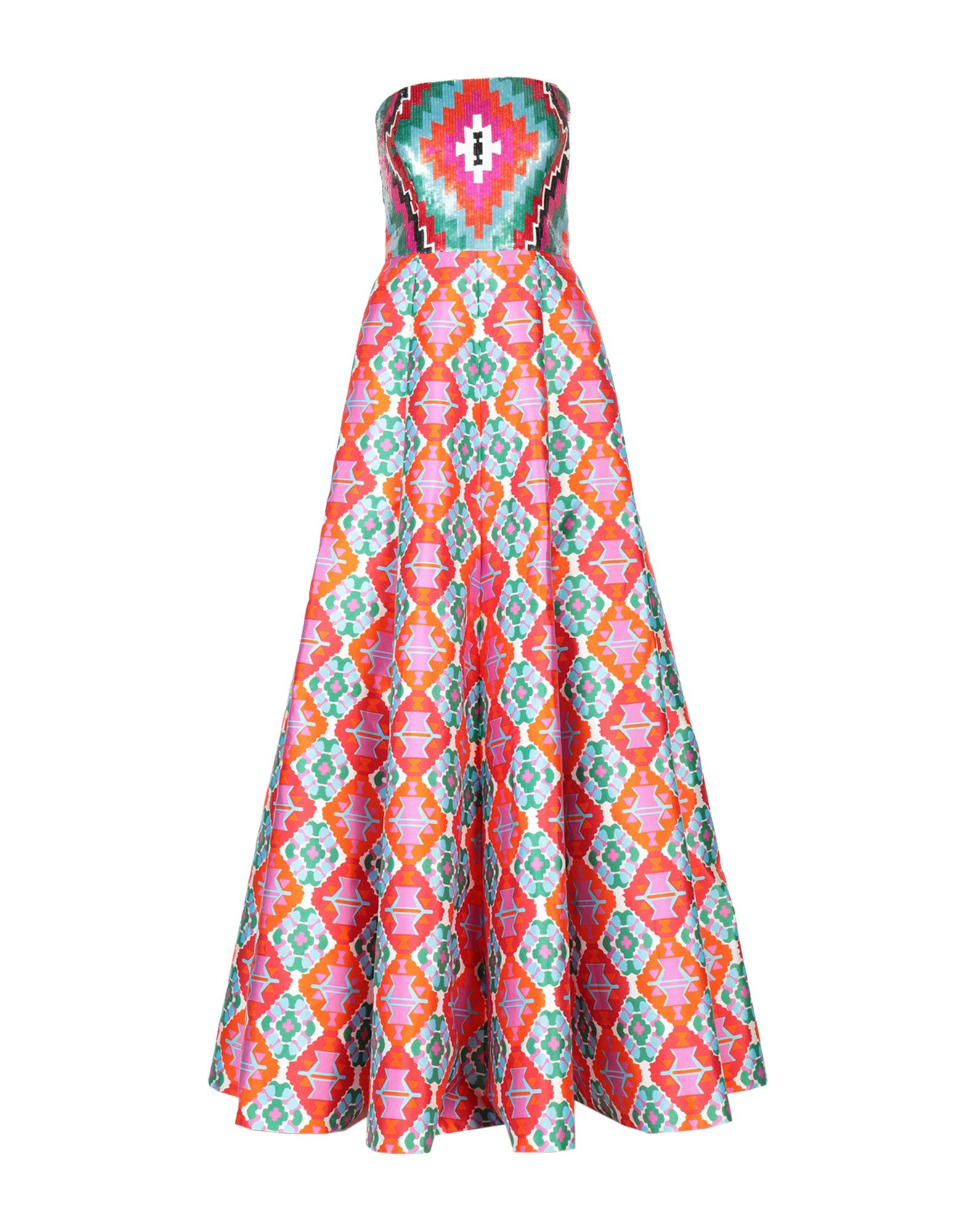 ANDREW GN Long Dress in Fuchsia