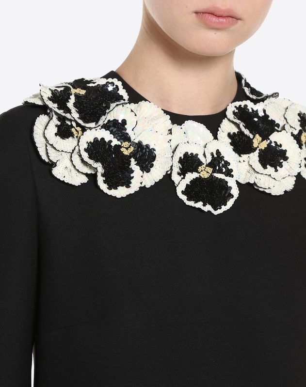 Pansy Embroidered Dress