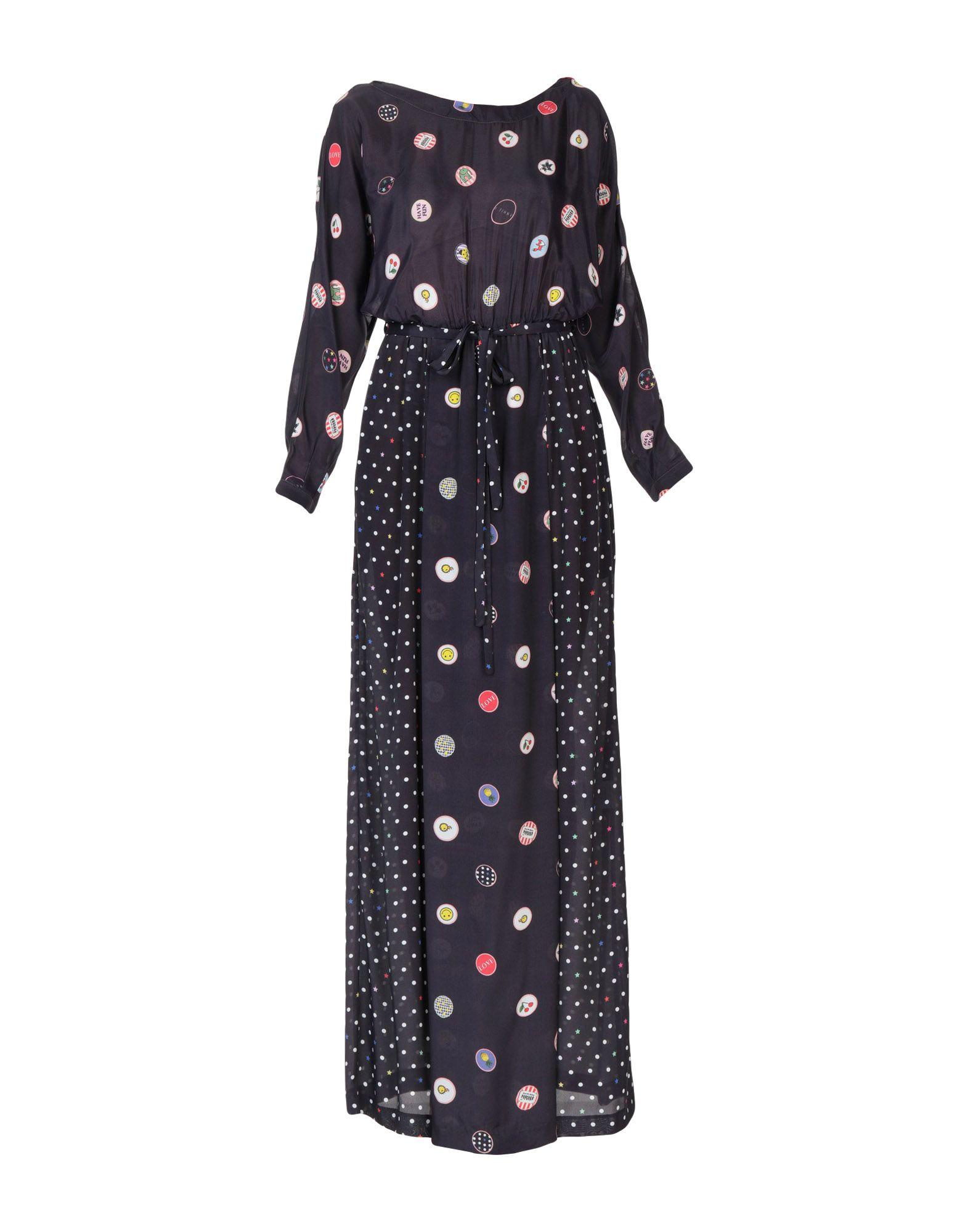 ANNIE P. Длинное платье цена 2017
